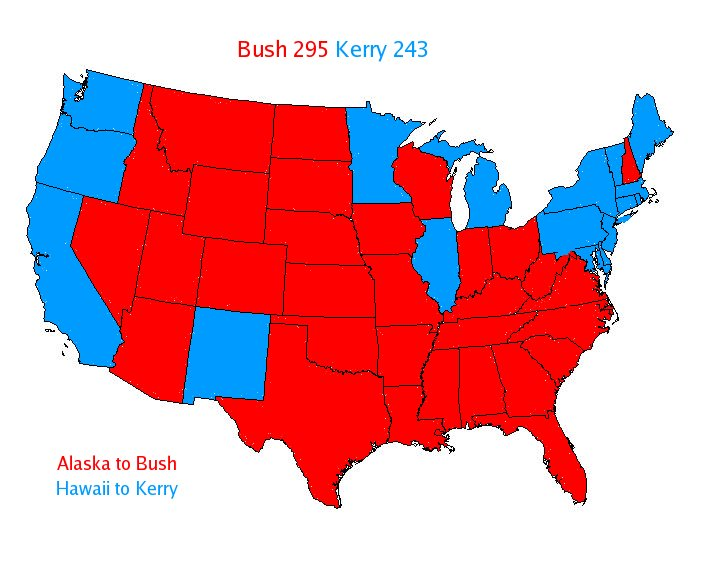Electoral College Projection with the Kerry Factor